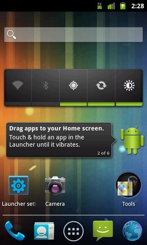 Free Holo Launcher cell phone app
