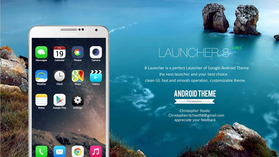 8 Launcher screenshot 4