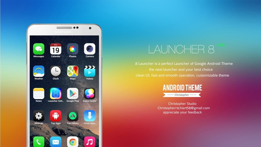 8 Launcher screenshot 10