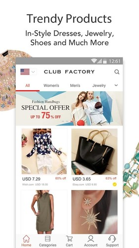 Free Club Factory-Fair Price cell phone app