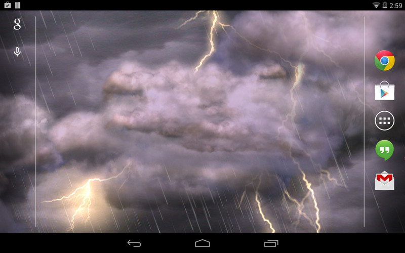 Thunderstorm Free Wallpaper screenshot 2